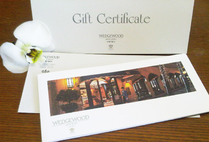 The Wedgwood Hotel Vancouver Gift-Certificate