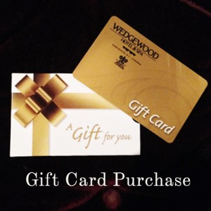 Gift Card Purchase for the Wedgewood Hotel