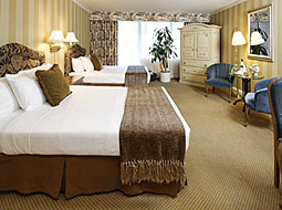 Executive guestroom with double queen beds at the Wedgewood Hotel