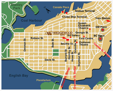 Vancouver Hotel Map | 2018 World's Best Hotels on
